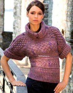 Пуловер с ирладскими узорами спицами. http://feminastyle.ru/blog/Domovodstvo/Rukodelnica/775920_Vyazanie_spicami_pulovera_s_irlandskimi_uzorami.html