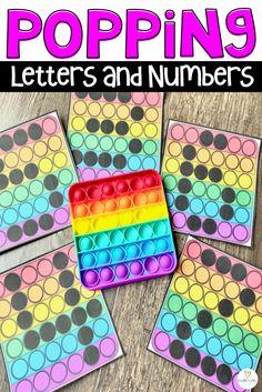 Letter and Number Practice with Pop Its - Kindergarten Rocks Resources