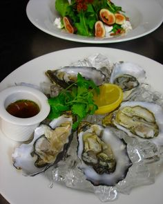 Delicious food at Port Douglas restaurant OTZ  Natural oysters