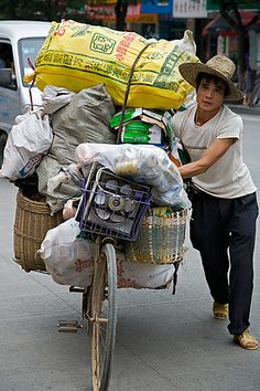 overloaded bike, Guilin, China
