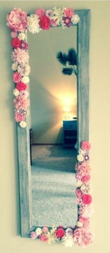 DIY cute mirror idea