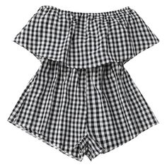 Checked Overlay Tube Romper Plaid ($15) ❤ liked on Polyvore featuring jumpsuits, rompers, tube romper, playsuit romper, overlay romper and plaid romper
