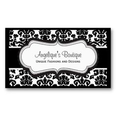 Elegant Black White and Pink Damask Business Cards. This great business card design is available for customization. All text style, colors, sizes can be modified to fit your needs. Just click the image to learn more! High Quality Business Cards, Bakery Business Cards, Fashion Business Cards, Vintage Business Cards, Salon Business Cards, Unique Business Cards, Professional Business Cards, Business Card Design, Pink Damask