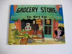 Vintage Book - Grocery Store to Set Up - Cut out book - uncut  $15.00   ‪#‎craftshout‬03/19