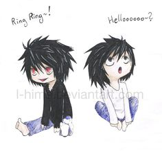 Death Note L BB Beyond Birthday Another Note Fanart Cute Chibi Funny