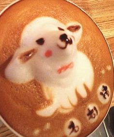 3 D Latte Foam Art