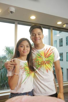 """This is Kathryn Bernardo and Daniel Padilla smiling and posing for the camera during the taping and recording of the 2015 ABS-CBN Christmas station ID theme song, """"Thank You for the Love! Child Actresses, Child Actors, Inigo Pascual, Daniel Johns, Enrique Gil, Filipina Beauty, Daniel Padilla, Star Magic, John Ford"""