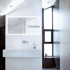 Sleek bathroom #white #bathroom