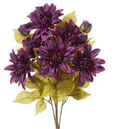 Fall For All Dahlia Spray Dark Purple