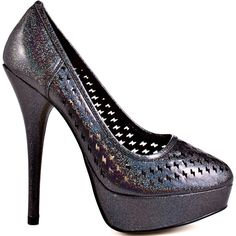 Electrify your outfit with this shimmery style from Iron Fist.  High Voltage features a glitter upper with fun and feisty cut outs through out.  A 5 1/2 inch heel and 1 inch platform wraps up this all around powerful look.