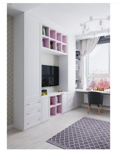 Closet Designs With Tv Ideas Kids Bedroom Designs, Kids Room Design, Closet Designs, Small Room Bedroom, Home Decor Bedroom, Girls Bedroom, Decor Room, Living Room Decor On A Budget, Interior Design Living Room