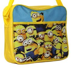 """Minions Bob 16/"""" Large School Backpack Lunch Book Bag Set Lunch Bag+Pencil case"""