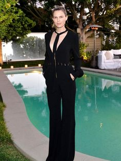 Sara Foster looks totally stunning in a jumpsuit by Rachel Zoe Collection
