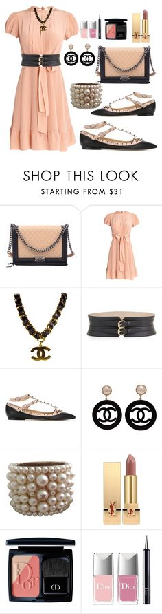 """Untitled #248"" by ellenfischerbeauty ❤ liked on Polyvore featuring Chanel, RED Valentino, BCBGMAXAZRIA, Valentino, Yves Saint Laurent and Christian Dior"
