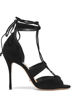 Shop on-sale Schutz Clove lace-up nubuck sandals. Browse other discount designer Sandals & more on The Most Fashionable Fashion Outlet, THE OUTNET.COM