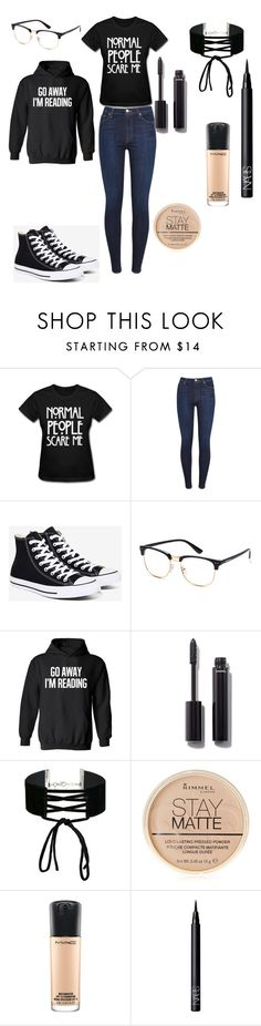 """""""Untitled #22"""" by kmedina0608 ❤ liked on Polyvore featuring 7 For All Mankind, Converse, Chanel, Miss Selfridge, Rimmel, MAC Cosmetics and NARS Cosmetics"""