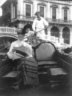 Eleanor Roosevelt on her honeymoon in Venice 1905. Presidential library. www.muranopassion.com