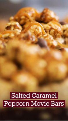 Yummy Snacks, Delicious Desserts, Yummy Food, Baking Recipes, Snack Recipes, Dessert Recipes, Popcorn Recipes, Love Food, Food Videos