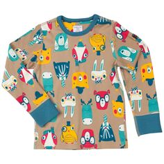 Love this! at Polarn O. Pyret UK & Ireland FOREST FRIENDS KIDS TOP #polarnopyretuk #qualitychildrensclothes #colourfulkidsclothes Long-sleeve top with woodland animal print. Extra-soft seams that don't chafe.
