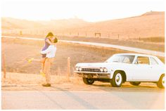 Classic cars, engagement photo shoot, Central Coast California. Chevy, Turri Road Tayler Enerle Photography Taylerenerle.com