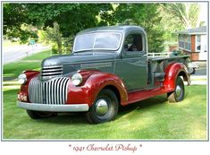 1941 Chevy Maintenance/restoration of old/vintage vehicles: the material for new… Vintage Pickup Trucks, Classic Pickup Trucks, Antique Trucks, Ford Classic Cars, Antique Cars, 1946 Chevy Truck, Chevrolet Trucks, 1957 Chevrolet, Cadillac