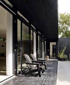 Danish Summer Home by Architect Rasmus Bak Outdoor Spaces, Outdoor Living, Outdoor Decor, Indoor Outdoor, Exterior Design, Interior And Exterior, Future House, My House, Aarhus