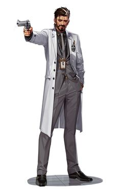 Doctor Pierre Hordiyenko is the head scientist for Flare and overseer of the entire tech wing. He enjoys making things go boom! Cthulhu, Game Character, Character Concept, Concept Art, Gangsters, Comics Anime, Otto Von Bismarck, Space Opera, Sci Fi Characters