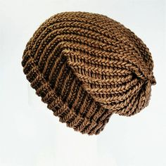 Mocha slouchy hat teen girl beanie brown slouch hat vegan