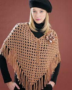 Arte y Tejidos: Reto Amistoso - Poncho Crochet - Paso a paso