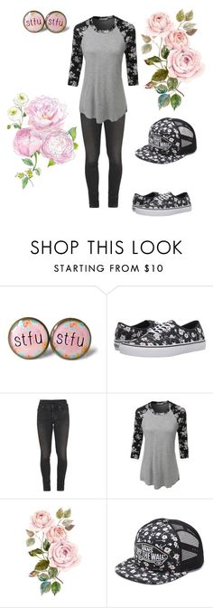 """""""Floral Pink Princess"""" by killjoy29 ❤ liked on Polyvore featuring Vans, Citizens of Humanity and LE3NO"""