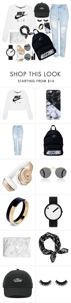 """""""Black and White Marble"""" by bouncingbunnies on Polyvore featuring NIKE, Topshop, Moschino, Beats by Dr. Dre, Prada, Marni, Rosendahl, rag & bone, Vans and Marc Jacobs"""