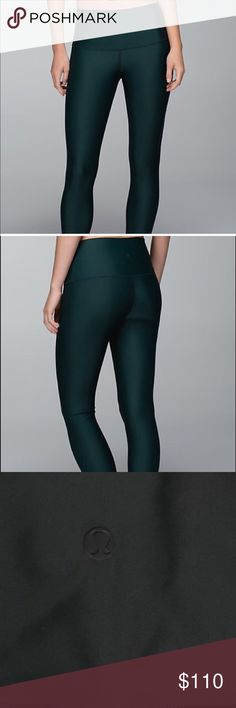 Lululemon Shine Tight (fuel green) Rare and hard to find shine tights, I had to have these and looked for a long time, turns out I don't ever wear them.. so they're up for sale lululemon athletica Pants Leggings