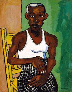 Athlete by William H. Johnson / American Art African American Artist, American Artists, African Art, American Women, American History, William H Johnson, Henry Johnson, Harlem Renaissance Artists, Black Art Painting