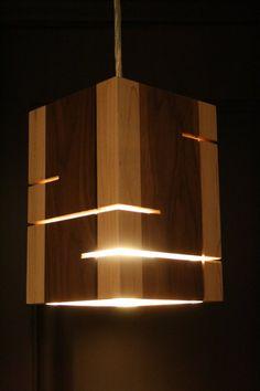 Wood Lamp Handmade wooden pendent light by handmadewoodenlight on Etsy Wooden Diy, Handmade Wooden, Etsy Handmade, Diy Home Decor Rustic, Wood Lamps, Lighting Design, Light Fixtures, Pendant Lighting, Kitchen Furniture
