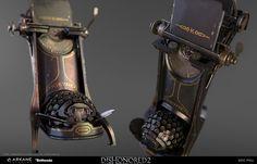 ArtStation - Typewriter Dishonored 2, Eric Pira