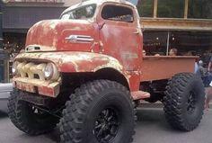 Lifted, sort of post-apocalyptic car: motorizm — ЖЖ Ford Pickup Trucks, 4x4 Trucks, Custom Trucks, Cool Trucks, Chevy Trucks, 1952 Ford Truck, Lifted Trucks, Antique Trucks, Vintage Trucks