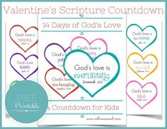 FREE Printable Valentine's Scripture Countdown...14 Days!! Simple to make, easy to use!