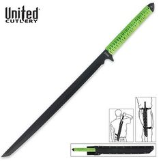 Black Ronin Apocalypse Ninja Sword with Sheath at BudK
