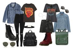 """""""YOU and ME"""" by rina-moutsolari ❤ liked on Polyvore featuring Levi's, Topshop, MadeWorn, Ray-Ban, Burberry, RE/DONE, Dr. Martens, Madden Girl, Miss Selfridge and The Cambridge Satchel Company"""