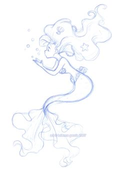 Ariel Sketch in blue