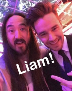 Liam Payne and Steve Aoki Liam Payne, Cheryl And Liam Baby, One Direction Zayn Malik, Steve Aoki, Liam James, Getting Back Together, Great Team, 1d And 5sos, All Family