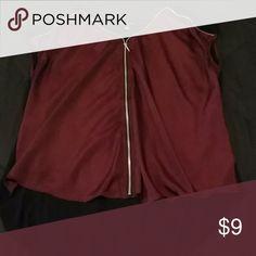 Women's Top Purple front/black back; short-sleeved top; zipper embellishments. Rock & Republic Tops Blouses
