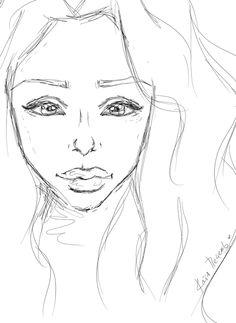 большие губы красивые глаза волнистые волосы рисунок девушки