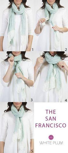 Un nudo que pasa desapercibido y queda elegante. #foulard #pañuelo #estilo