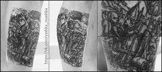 #tattoo #art #dotwork #lineart #black #blackwork #engrave #engraving #dance #death #oldman #skeleton #priest