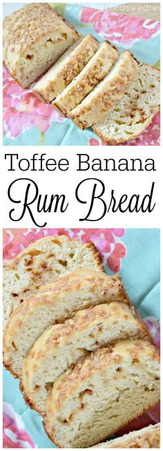 Delicious, airy Toffee Banana Rum Bread using @bobsredmill flour BobsSpringBaking AD