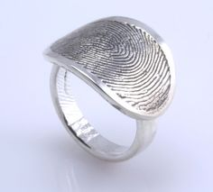 Sterling Silver Custom Fingerprint Ring ... a piece of you, always with me <3