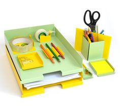 Desk Tidy by Clea Jentsch  --   I bet there is wallpaper that fits perfectly!