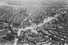 Luchtfoto van rotterdam centrum en omgeving 1925