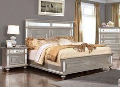 OCFurniture - Furniture of America Silver 4 Pc Bedroom Set CM7673, $1,479.00 (http://www.ocfurniture.com/furniture-of-america-silver-4-pc-bedroom-set-cm7673/)